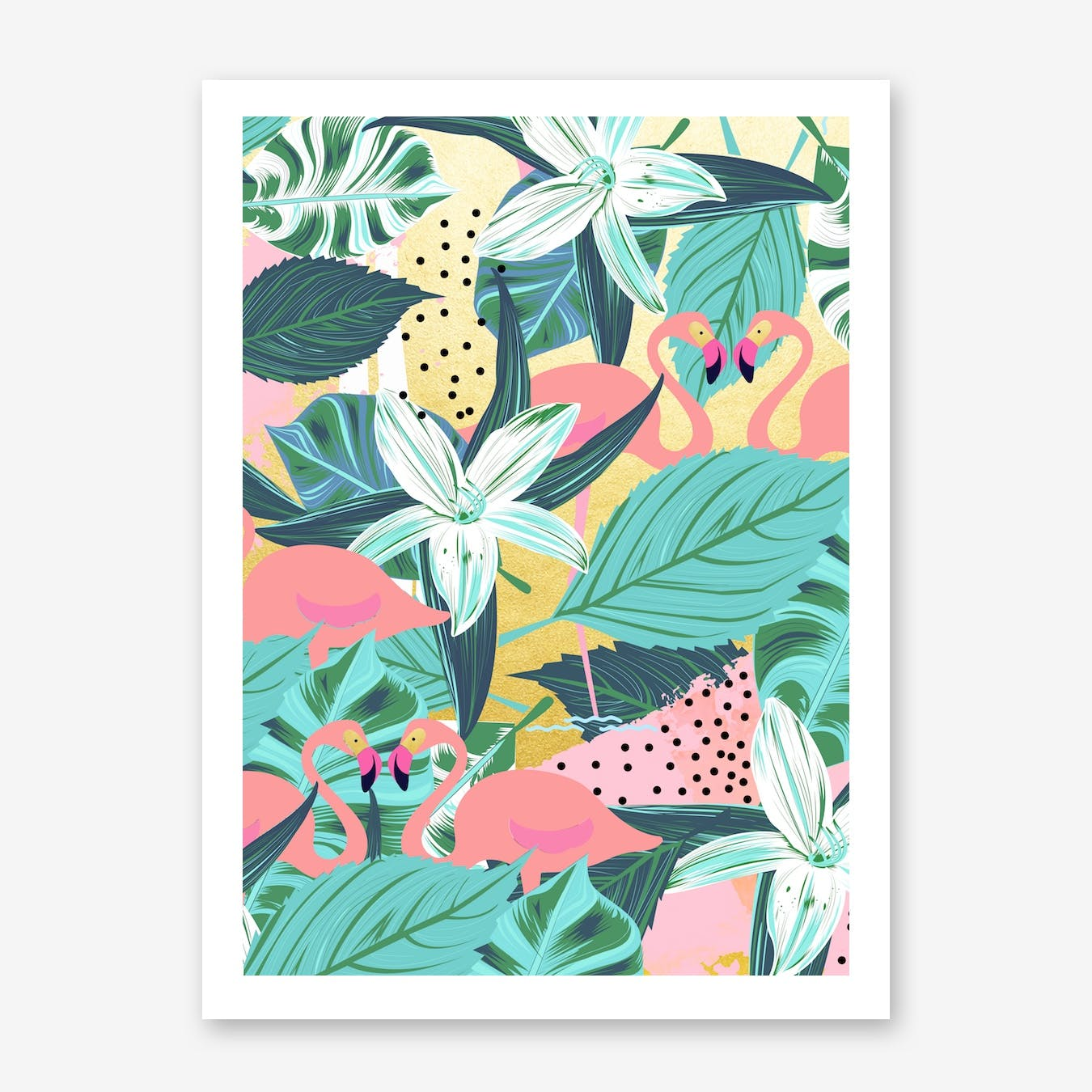 Flamingo Tropical Print