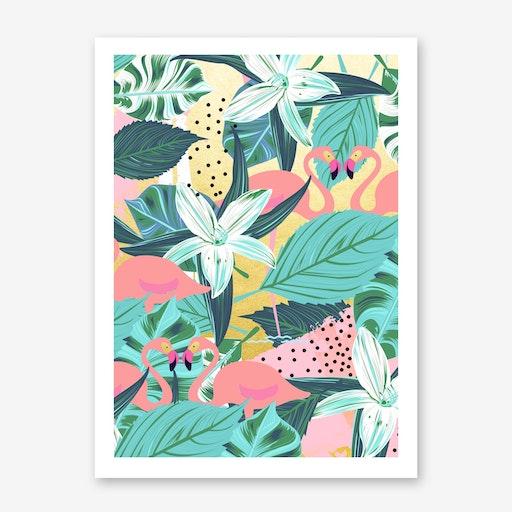 Flamingo Tropical Print