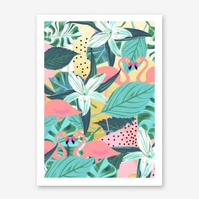 Flamingo Tropical Art Print