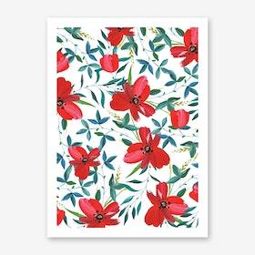 Red Blossom Art Print