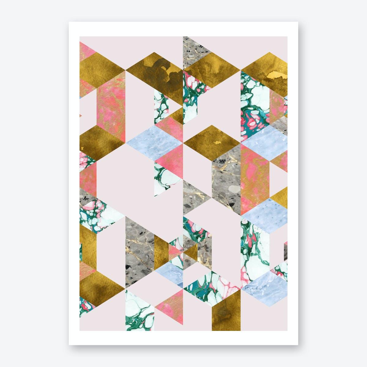 Geometry In Love Art Print