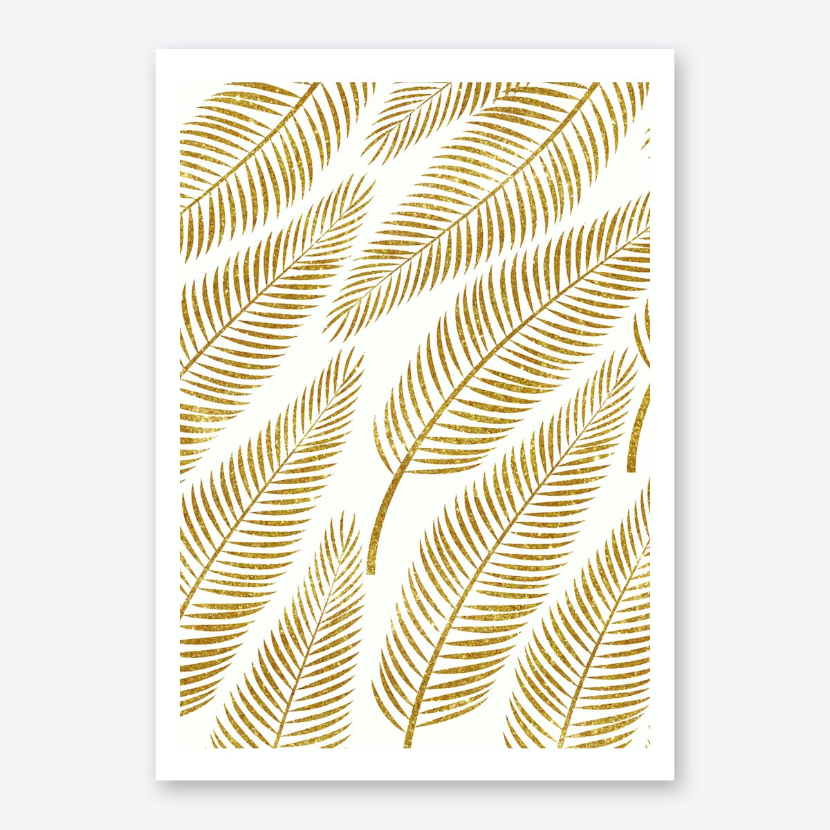 Golden Palm Art Print