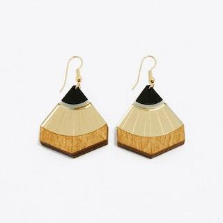 Sun Point Earrings - gold