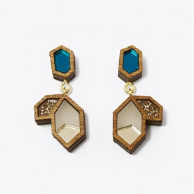 Little Cluster Earrings Teal