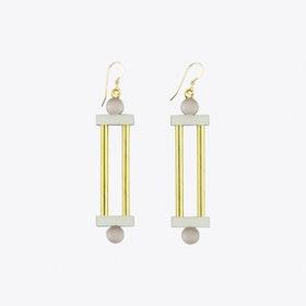 Column Earrings Mauve