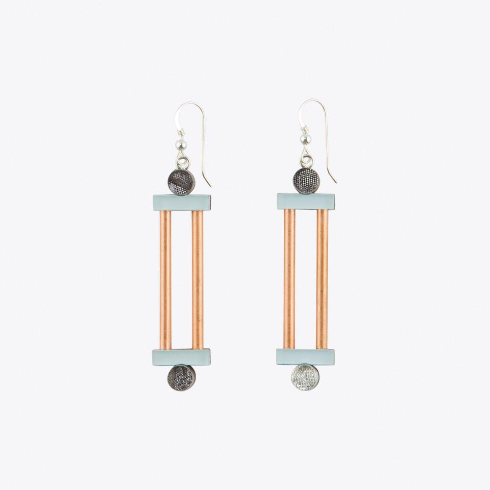 Column Earrings Pastel Blue