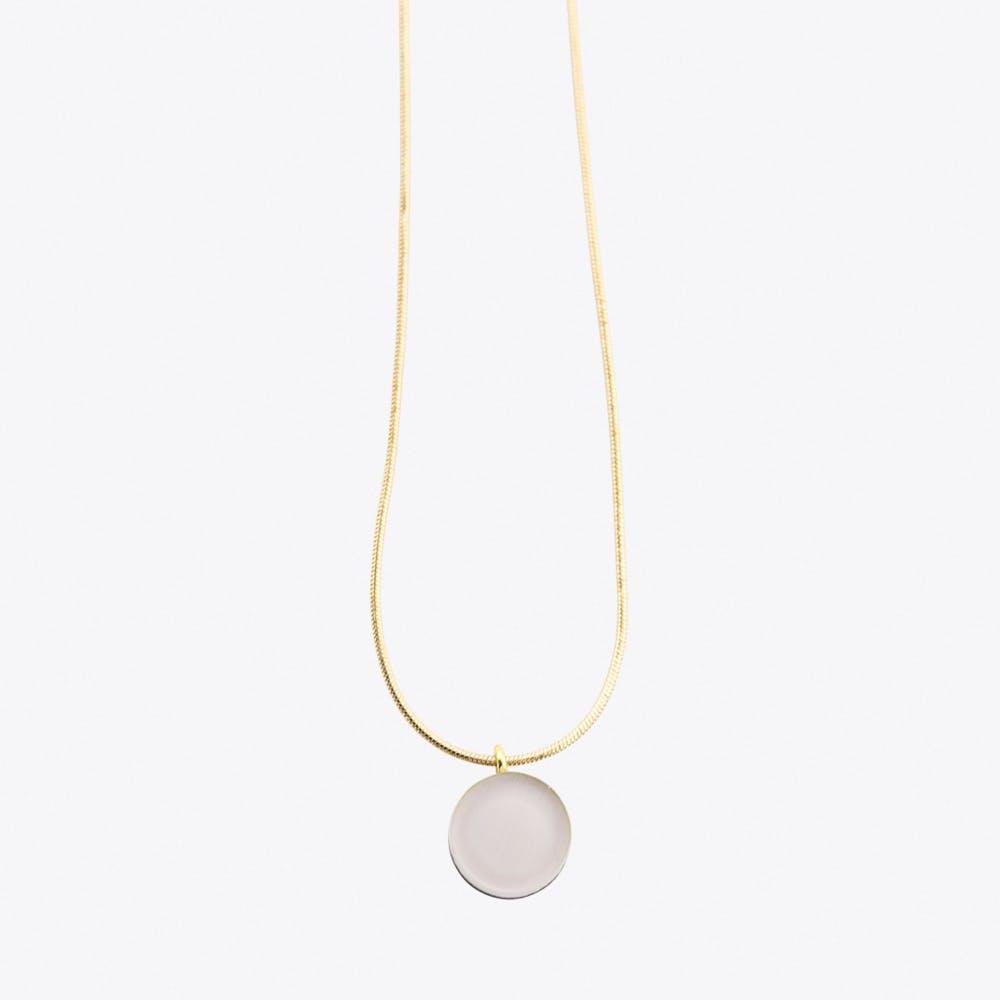 Dot Necklace Mauve