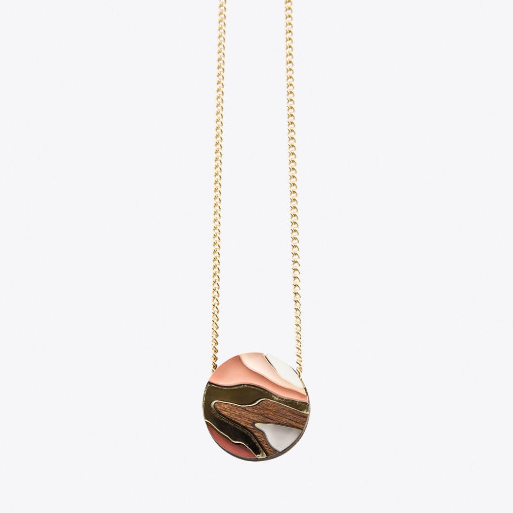 Marble Necklace Apricot