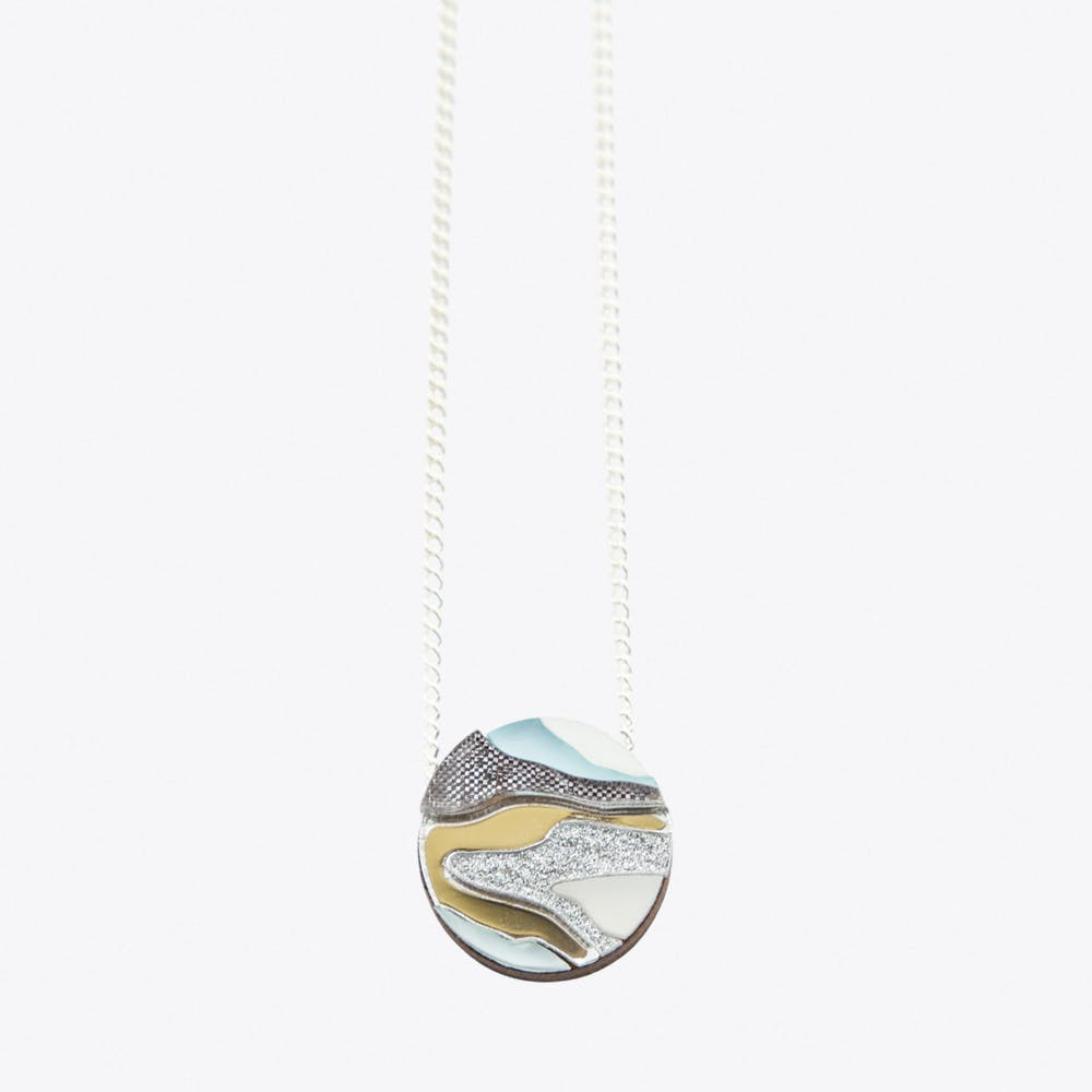 Marble Necklace Pastel Blue
