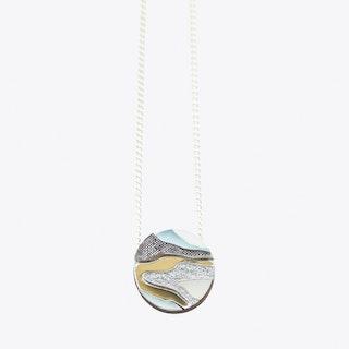 Marble Necklace Pastel Blue