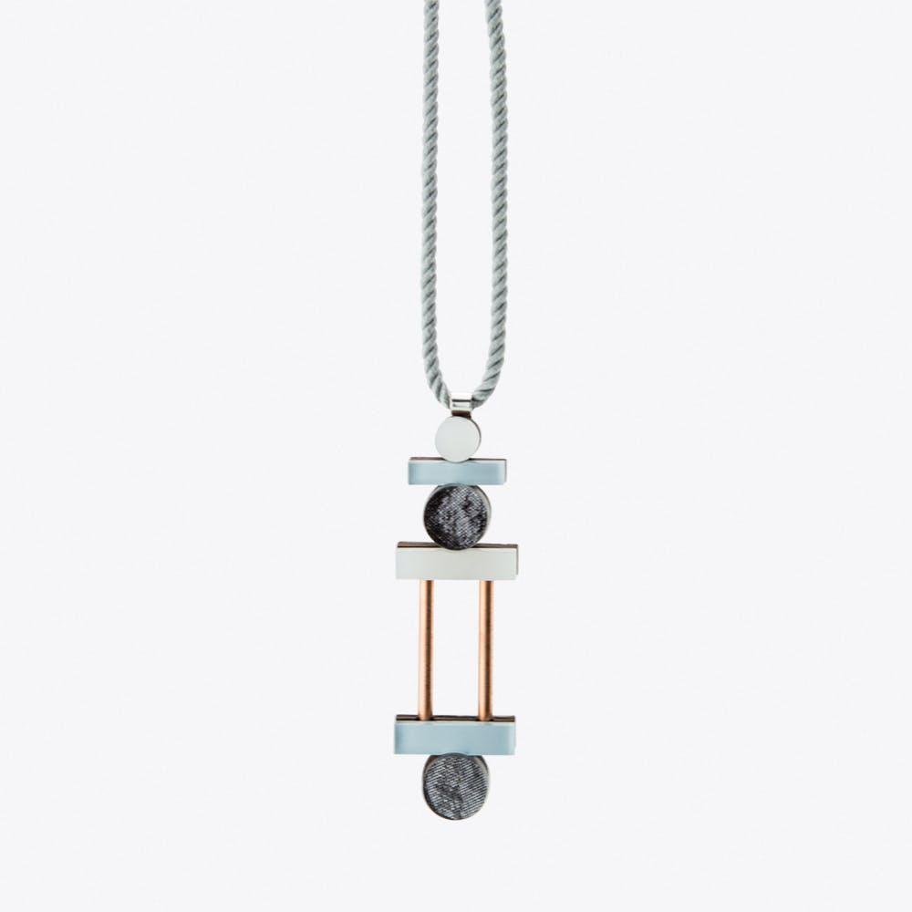 Stack Necklace Blue & Pink