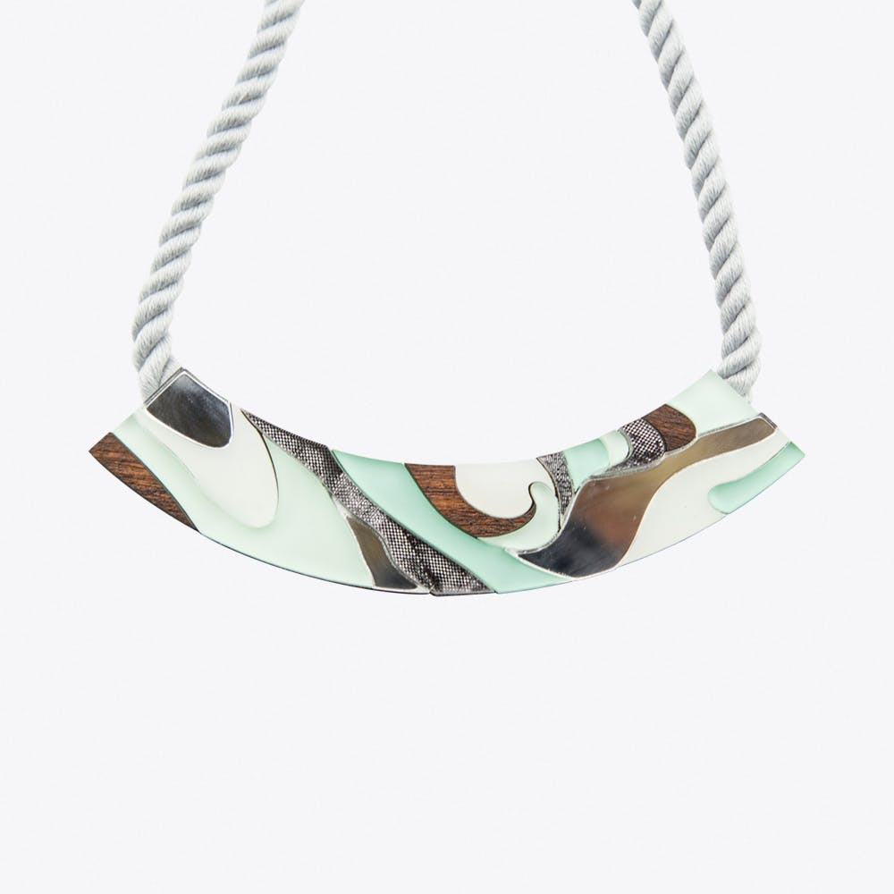 Marble Rope Necklace Mint