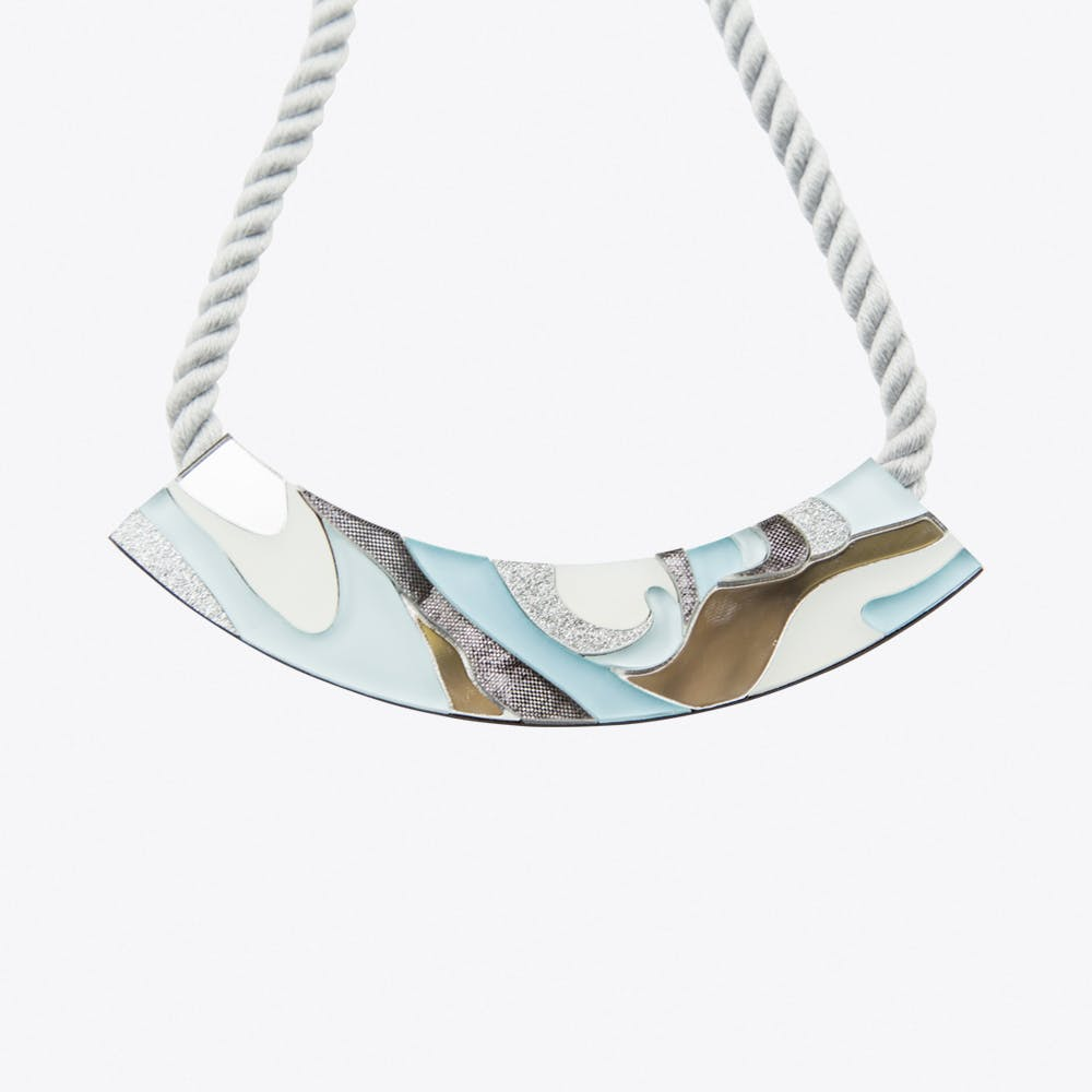 Marble Rope Necklace Pastel Blue