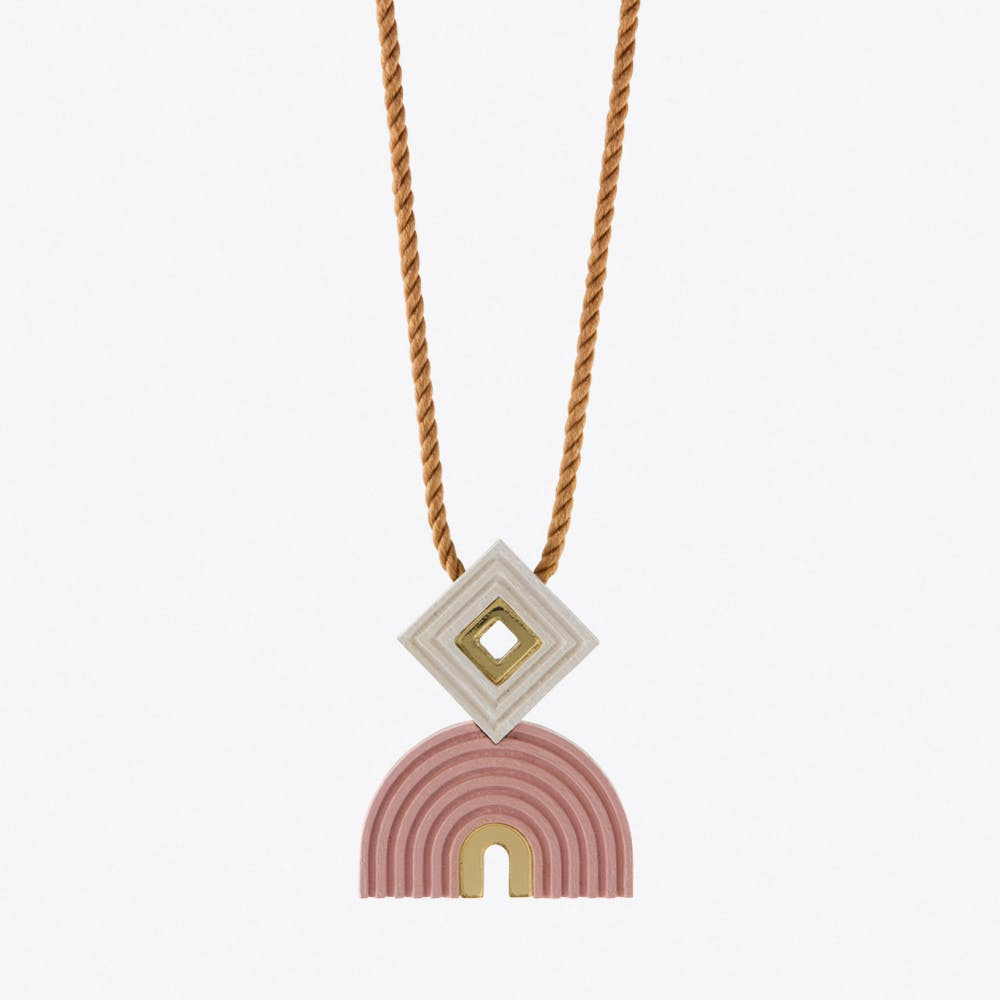 Monument Necklace Pale Pink