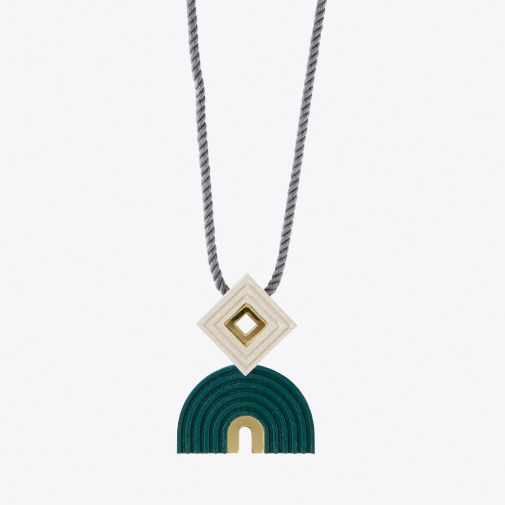 Monument Necklace Forest Green