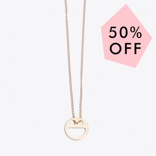 Happy Necklace in Rose Gold