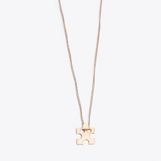 Puzzle Me Necklace in Rose Gold