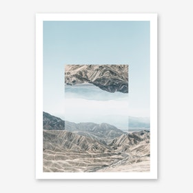 Landscapes Mirrored 1 Death Valley Art Print