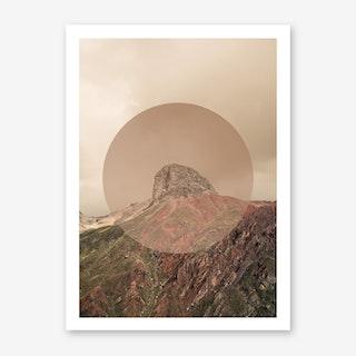 Landscapes Circular 2 Andes Art Print