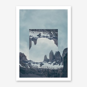 Landscapes Mirrored 2 Torres del Paine Art Print