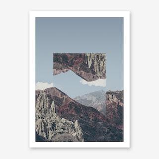 Landscapes Mirrored 2 Chacaltaya Art Print
