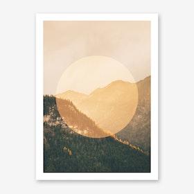 Landscapes Circular 2 Alps Art Print