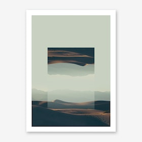 Landscapes Mirrored 2 Death Valley Art Print
