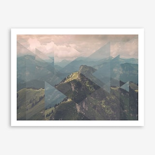 Landscapes Scattered 1 Alps Art Print