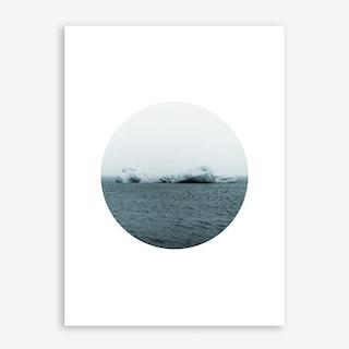 Landscapes Circular 3 Jökulsárlón Art Print