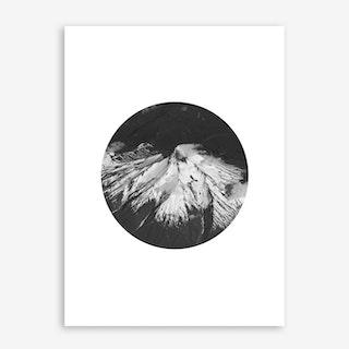 Landscapes Circular 4 Andes Art Print