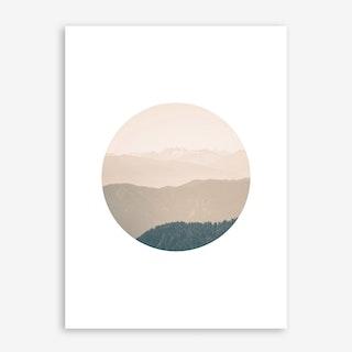 Landscapes Circular 4 Karwendel Art Print