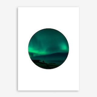 Landscapes Circular 4 Skardsvik Art Print