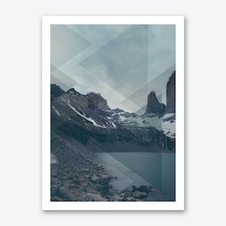 Landscapes Scattered 4 Torres del Paine Art Print