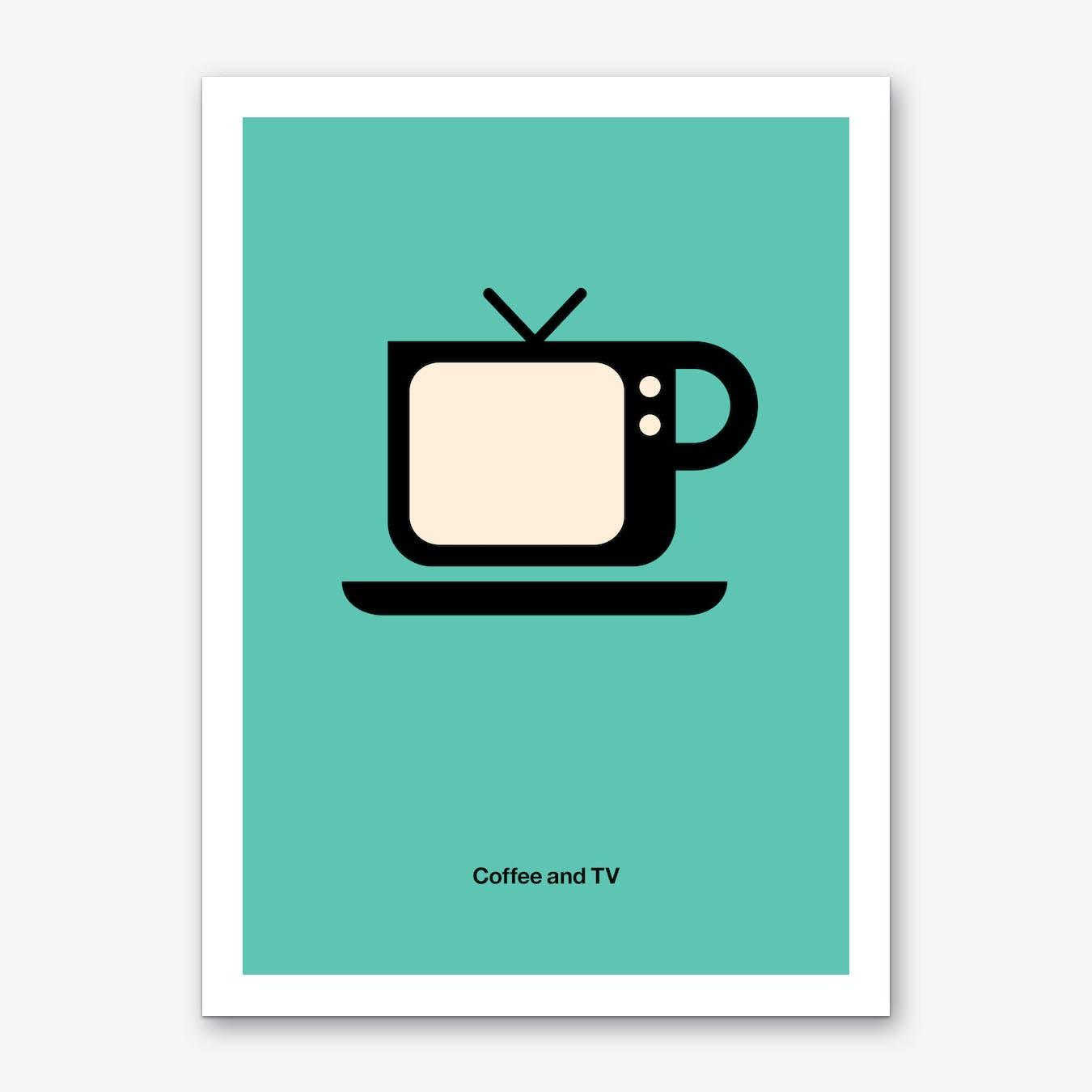 Coffee and TV Art Print