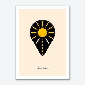 Sunny Road Art Print
