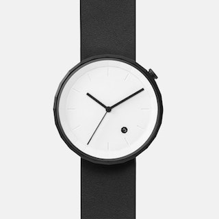 Polygon Watch 01 in Black with Black Strap