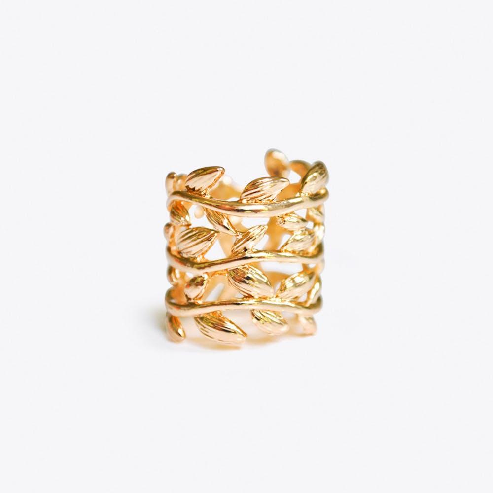 Leaf Ring in Gold