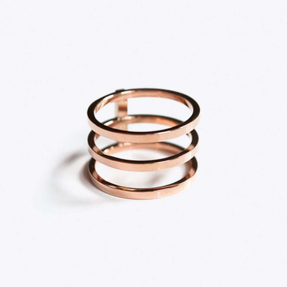 Triple Ring in Rose Gold