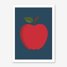 Big Red Apple Art Print