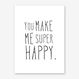 Super Happy Art Print