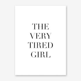 Tired Girl Art Print