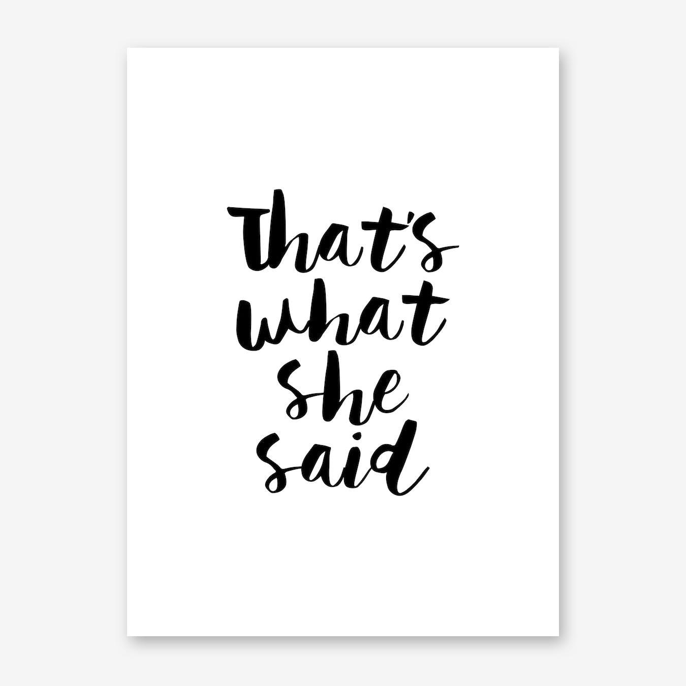 She Said Print