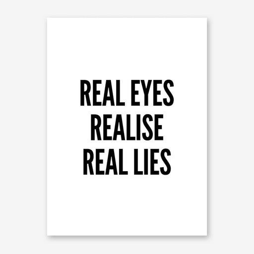 Real Eyes Print