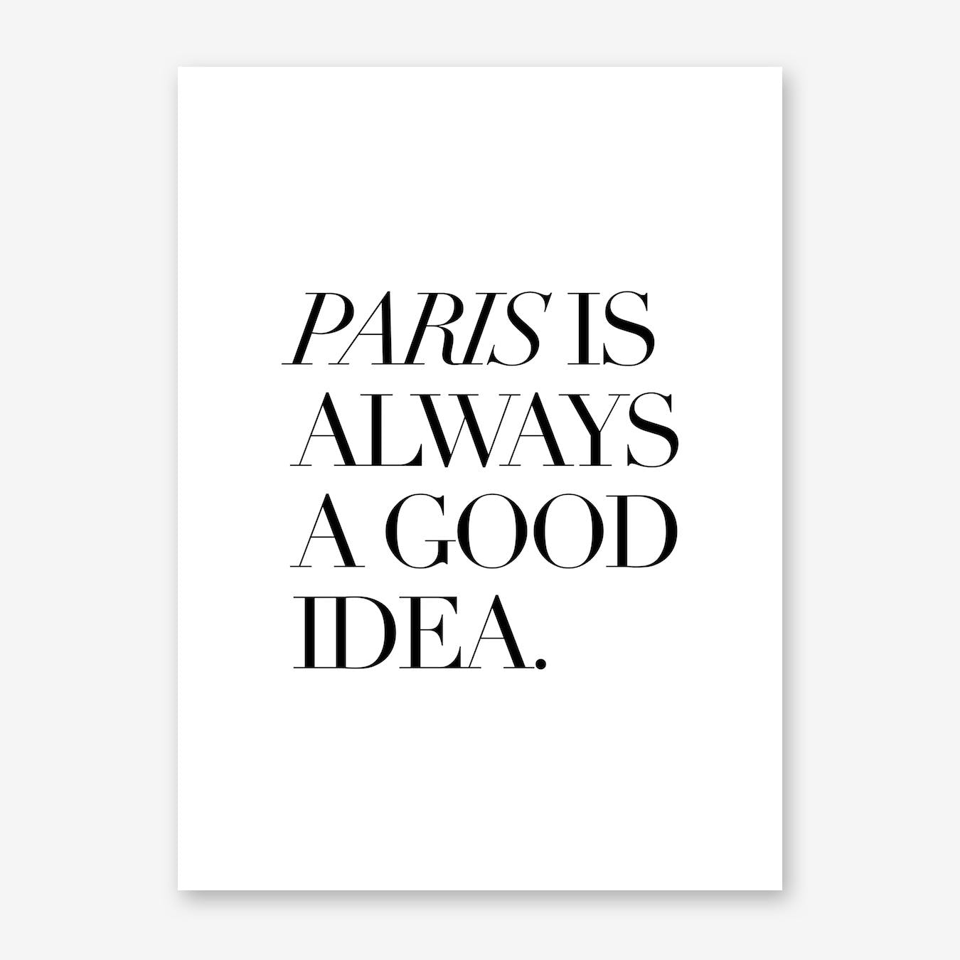Paris Good Print