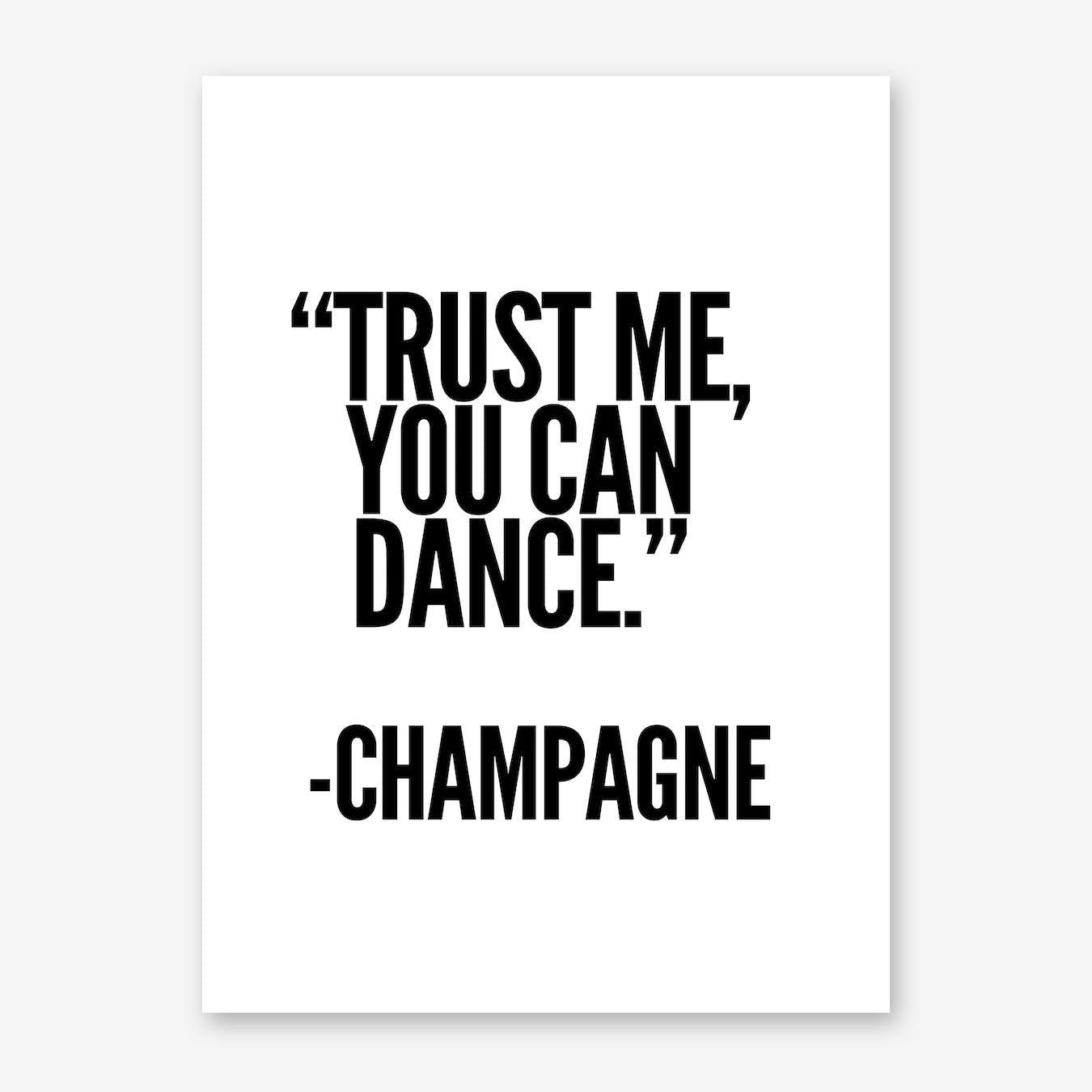 Champagne Print