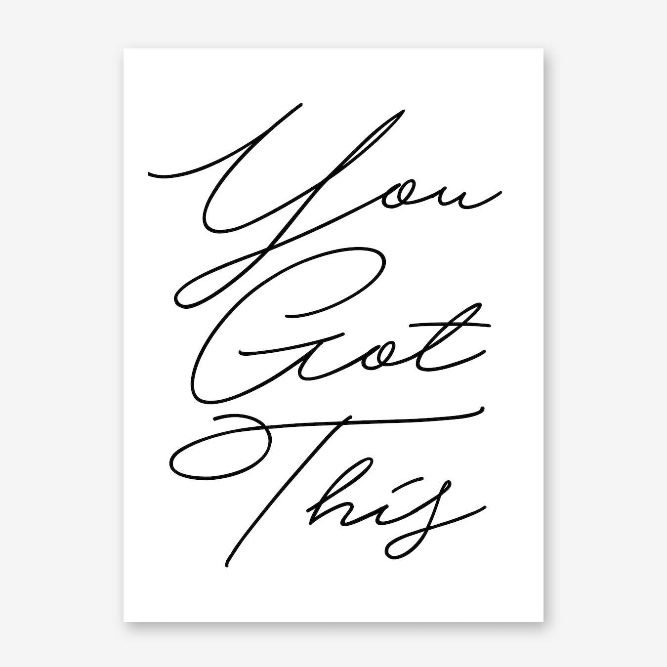 You Got This Handwritten