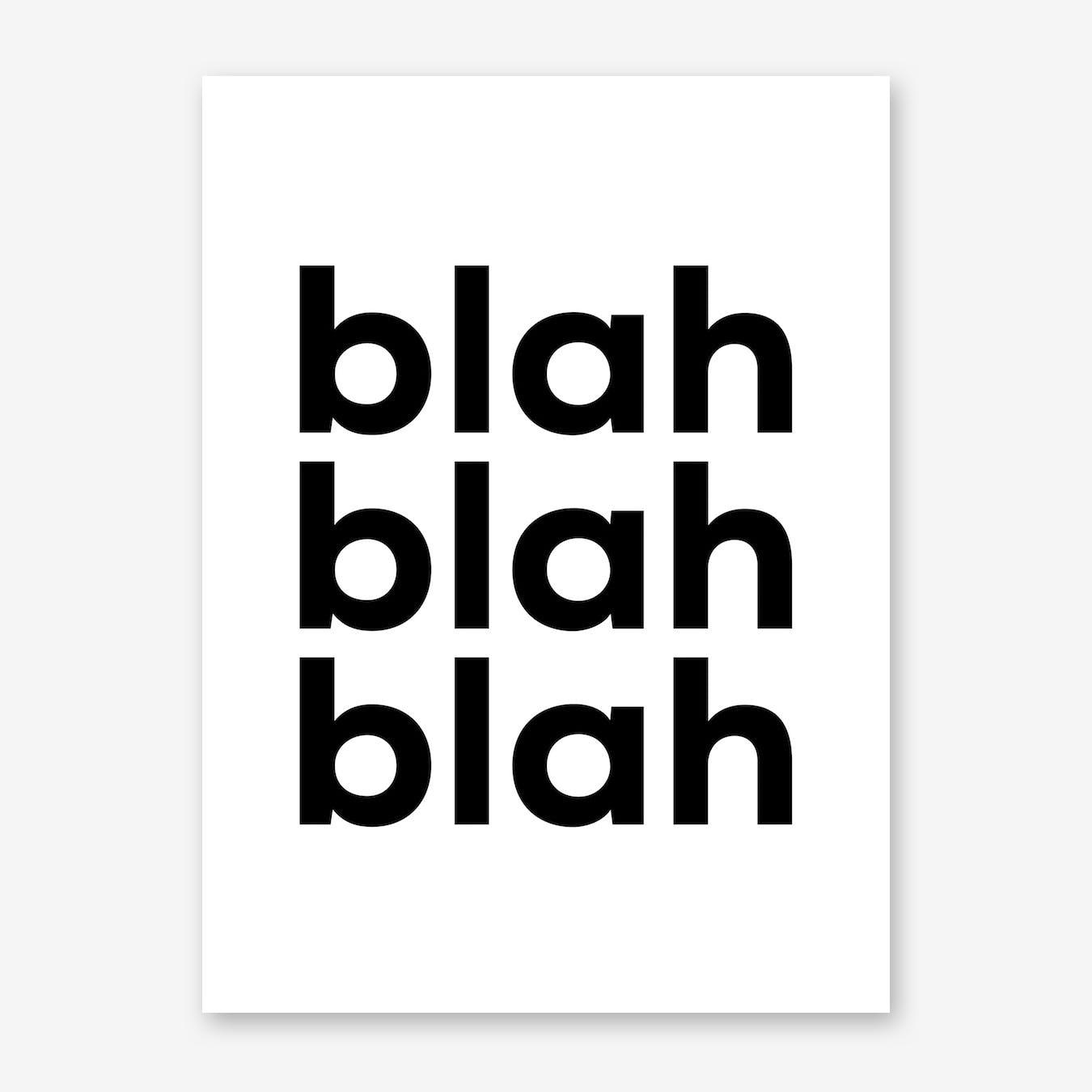 Blah Print
