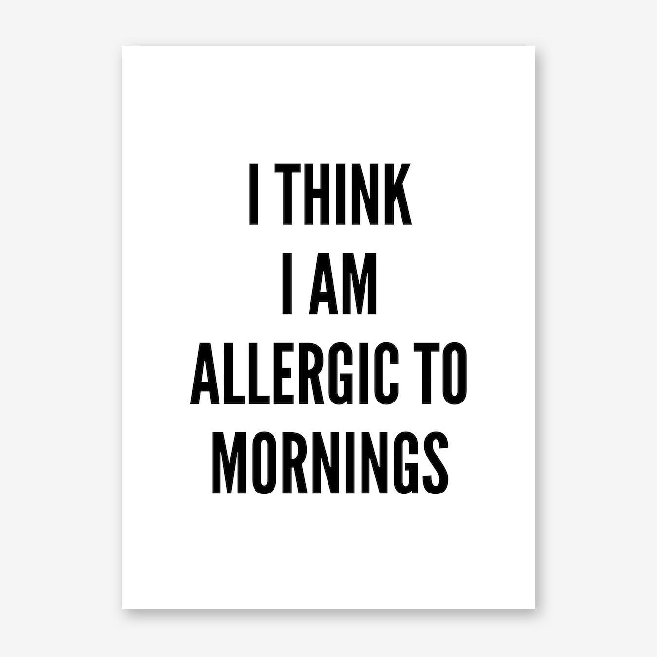 Allergic Print