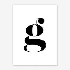 G Letter Art Print
