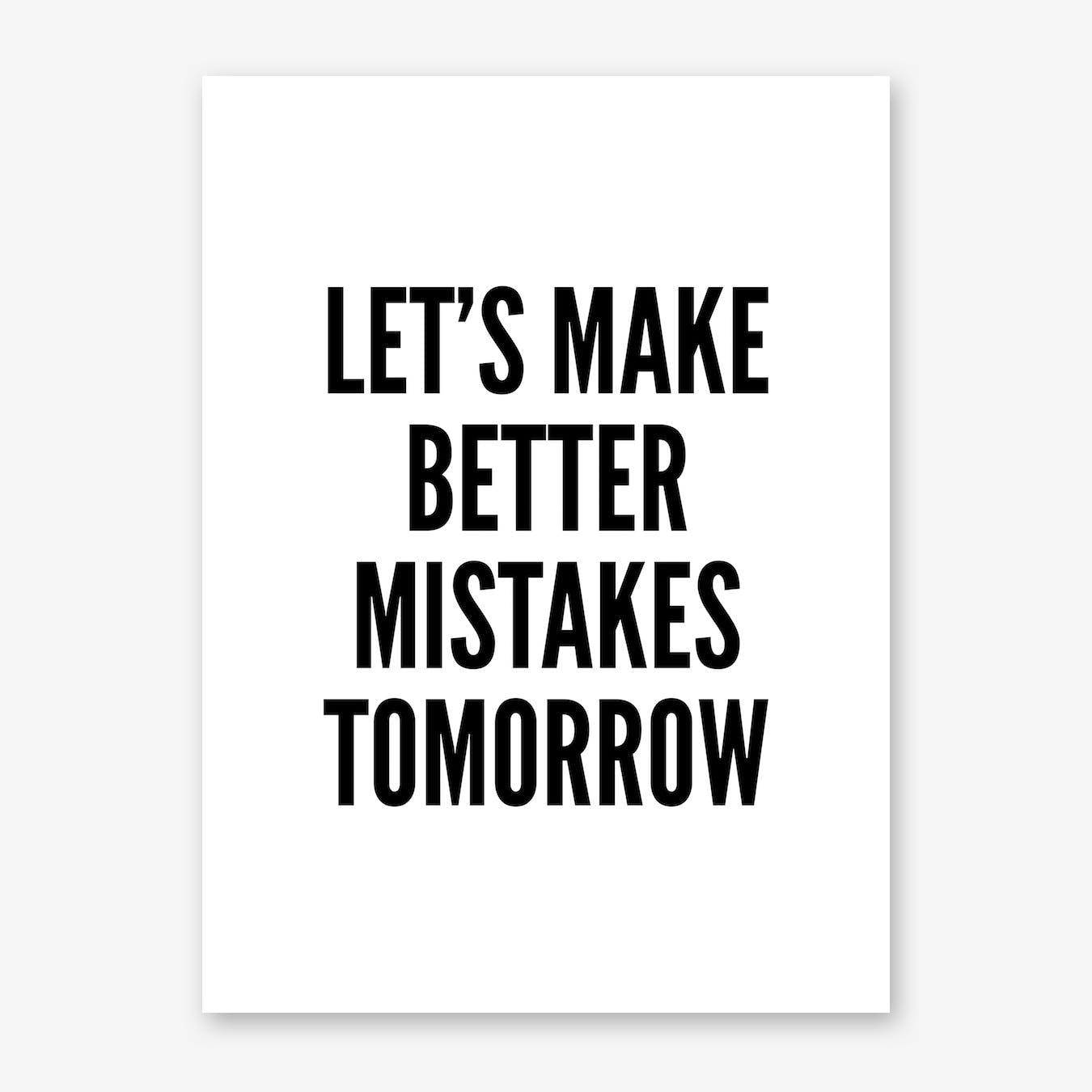 Mistakes Print